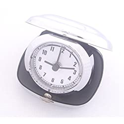 Silver Travel Foldable Alarm Desk Clock Computers, Electronics, Office Supplies, Computing