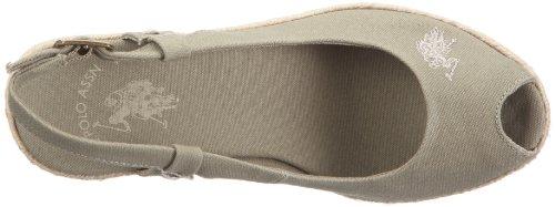 U.S.Polo Alena Canvas 57.4101S1.US7-36 - Sandalias de vestir de lino para mujer Verde