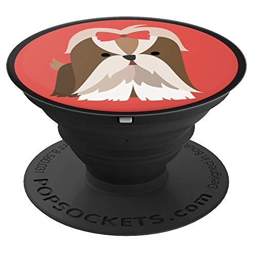 Sassy Southern Charm & Grace Cute & Unique Shih Tzu Puppy | Dog Lover Gift on Black for Wireless Pho - PopSockets Grip and Stand for Phones and ()