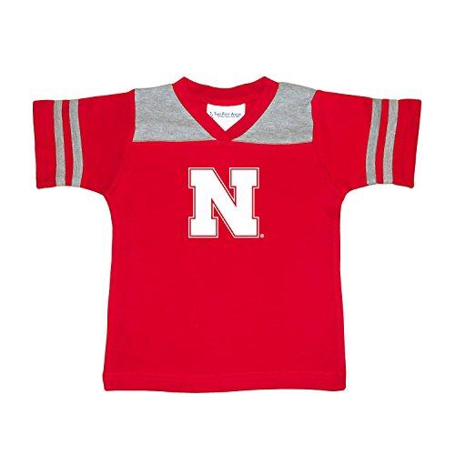 NCAA Nebraska Cornhuskers Toddler Boys Football Shirt, Red, (Nebraska Red Jersey)