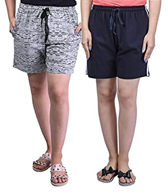 SHAUN Women Regular Shorts (Pack of 2)