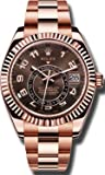 Rolex Sky Dweller Sundust Dial 18kt Everose Gold Men's Watch