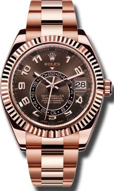 Rolex Sky Dweller Sundust Dial 18kt Everose Gold Mens Watch 326935