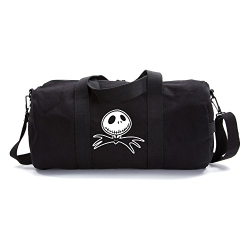 - Jack Nightmare Before Christmas Bat Army Heavyweight Canvas Duffel Bag in Black