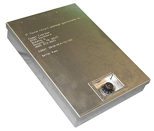 Magnetic Products Inc. DVA Aluminum Safe Box for High Value FedEx Parcels - Extra Security with Combination Lock - by (MPI) - ShipSafe Box Large with ()