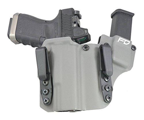 Fierce Defender IWB Kydex Holster Glock 19 23 32 The 1 Series -Made in USA- GEN 5 Compatible (Gunmetal Grey)