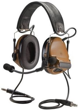 (3M PELTOR COMTAC 93440 PELTORCOMTACIII MT17H682FB-19 CY Advanced Combat Helmet (ACH) Communication Headset, Dual COMM, Headband, 2
