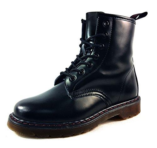 calidad Negro negro Botas de para sintética piel nbsp;ojales EUR sintética 8 señora alta Chelsea 5 UK piel de con 38 nHHY6rqg