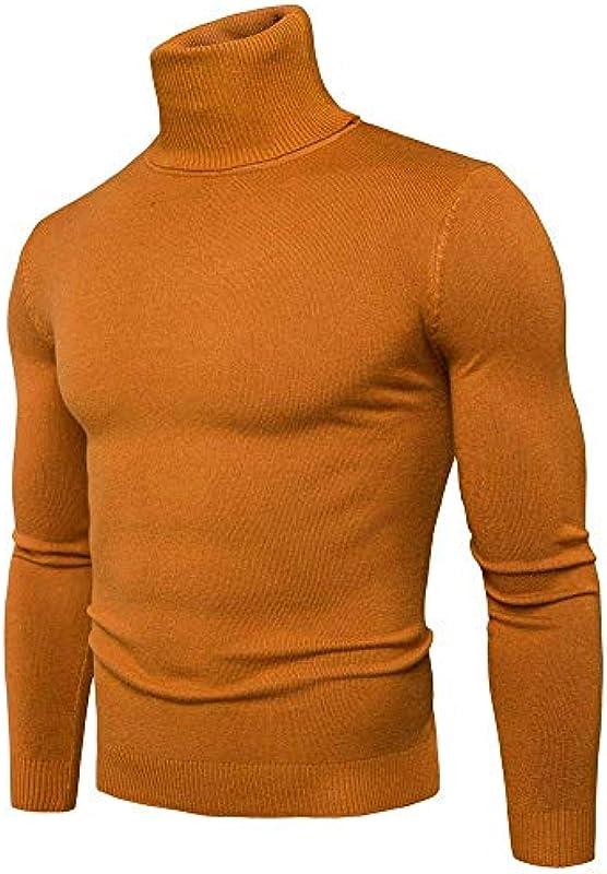Męski sweter z zwijanym kołnierzem sweter z rolowanym kołnierzem bluza z kapturem dzianina koszulka Troyer T Slim Fit sweter z dzianiny: Odzież