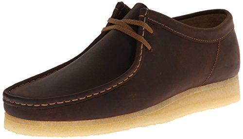 CLARKS Men's Wallabee Beeswax Leather 10 D - (Clarks Wallabee Oxford)