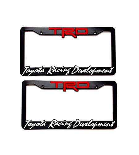 2 x TRD License Plate Frame Tundra Tacoma 4Runner Corolla FRS CAMRY SIENNA CELICA