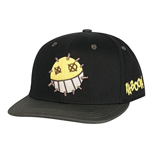 JINX Overwatch Junkrat Snapback Baseball Hat (Black, One Size) -  889343079245