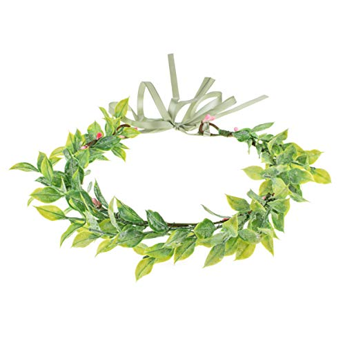 Vividsun Bridal Green Leaf flower Crown Eucalyptus Floral Headband Wedding Festivals Photo Props (H/green)