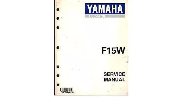 yamaha outboard f15w service manual