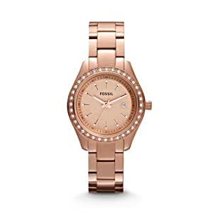 Fossil Stella Mini Three Hand Stainless Steel Watch - Rose Es3196