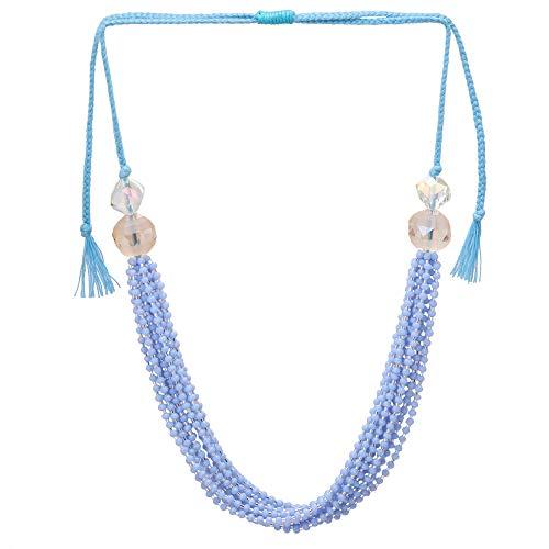 El Allure Preciosa Jablonex Seed Bead Cola Water and Silver Japanese Cut Dana Trendy Handmade Fine Necklace for Women. ()