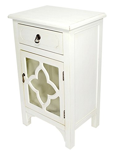 Heather Ann Creations Standing Single Drawer Distressed Decorative Accent  Cabinet, 30u0026quot; X 18u0026quot;