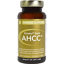 Quality of Life Labs, Kinoko Gold AHCC, Immune Support, 500 mg, 60 Vegicaps - 3PC