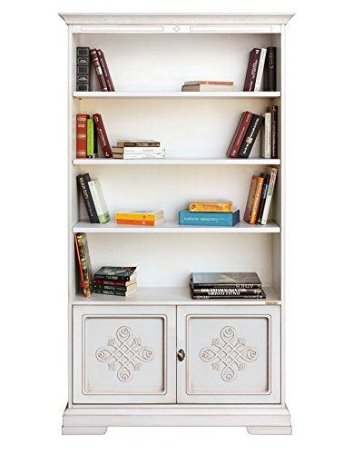 Arteferretto Librería Blanca en Estilo Clasico con Puertas y ...