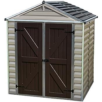 palram skylight storage shed 6 x 5