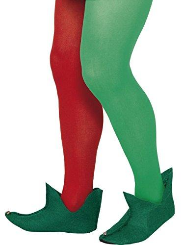 Adult Unisex Green Elf Santa's Helper Boots Costume (Green Elf Boots)