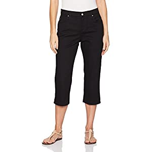 LEE Women's Relaxed Fit Capri Pant, Black, 12