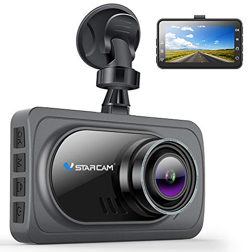 VStarcam Dash Cam 1080P Dash Camera for Cars,Super Wide Angle Car Camera with Super Night Vision,3 IPS HD Screen Dash Camera for Cars,Dashboard Cam with G-Sensor,WDR,Parking Monitor,Loop Recording