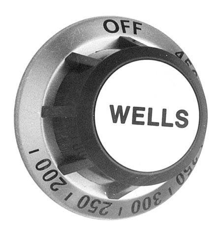 Star Mfg 2R-30259 Knob 2-3/8 D Grey & Silver Off-450-200 For Wells Grill G13 G15 G23 G60 221181