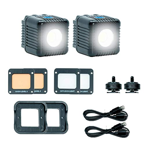 Lume Cube 2.0 Two Pack – Daylight Balanced LED Lights for Photo, Video, Content Creation, Includes 2 Warming Gels, Diffusers, DSLR Camera Mounts for Sony, Nikon, Panasonic, Fuji, Canon, GoPro, Drones