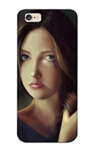 [02fdeb03526]premium Phone Case For Iphone 6 Plus/ Painting Art Brown Haired Glance Face Girls Tpu Case Cover(best Gift Choice)