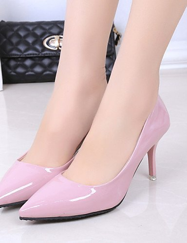 ShangYi Womens Shoes Leatherette Stiletto Heel Heels / Pointed Toe Heels Wedding / Office & Career / Casual Black / Pink Pink