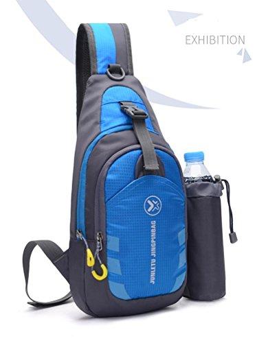 roccia Pack Lyy Backpack Cloth Messenger Movement Running Soft Walk Arrampicata Surface blu su Shoulder Bag Nylon Chest qv1fU1F