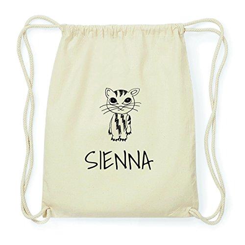 JOllipets SIENNA Hipster Turnbeutel Tasche Rucksack aus Baumwolle Design: Katze