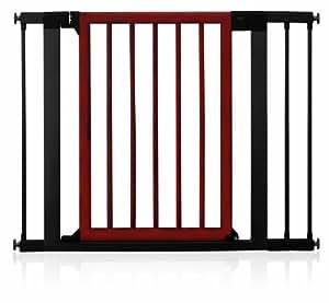 Munchkin 31061 Madera y Dise-ador Puertas de Acero, Dark Wood-Silver