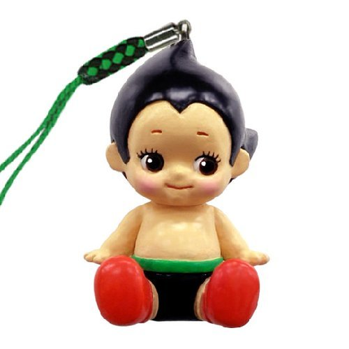 Astro Boy Cell Phone Strap : Kewpie Mascot Mini Figure with Loop - 1.5