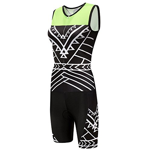 logas Women s Sleeveless Triathlon Suit Trisuit Cycling Skinsuits  Breathable   Quick-Dry Outdoor Sportswear for Racing Running   Training 5280e4f96