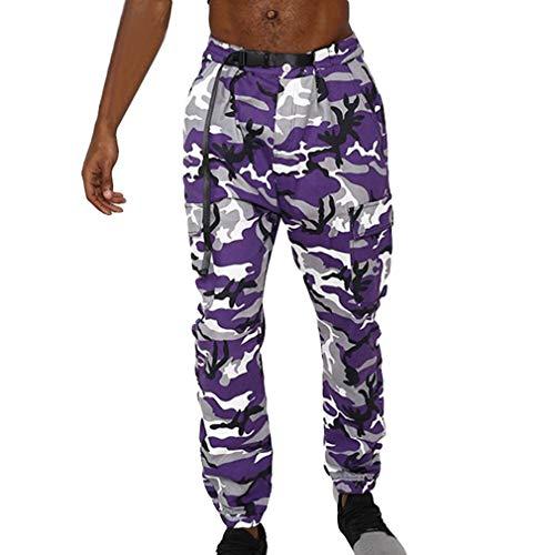 Multipoches Men Cargo Hip Hop Camouflage Street Camo Bleu Juleya New Streetwear Pants ZwWxAnvUpq