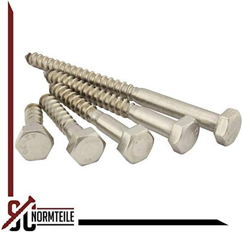 10 St/ück Schl/üsselschrauben 6x20 mm - Sechskant Holzschrauben Edelstahl A2 V2A Holzbauschrauben - DIN 571 SC571