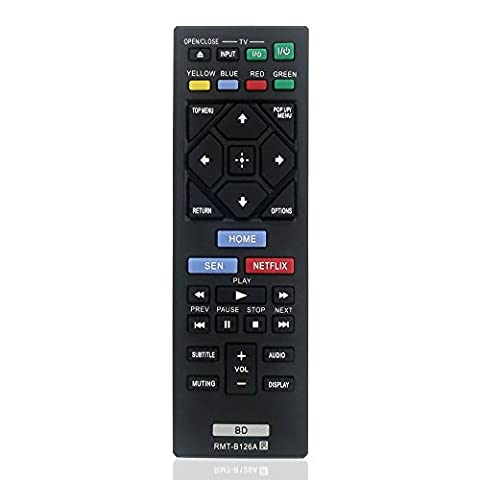 Gvirtue Replacement Lost Remote RMT-B126A For Sony Blu-Ray Player BDP-BX120, BDP-BX320, BDP-BX520, BDP-BX620, BDP-S1200, BDP-S2200, BDP-S3200, BDP-S5200, BDP-S5200/D, BDP-S6200, BDP-S2100 (Blu Ray Sony Bdp S6200)