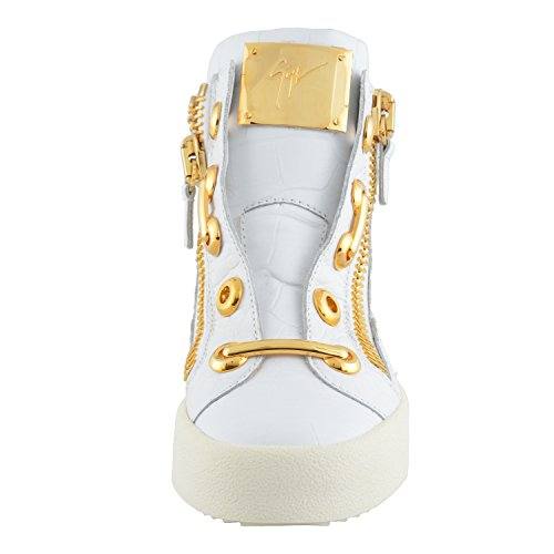Giuseppe Zanotti Design Femmes En Cuir Salut Top Fashion Sneakers Chaussures Us 6 It 36