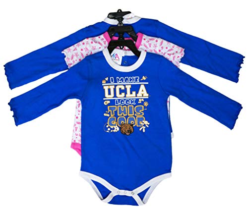 dfc1886068a2 Amazon.com  Knights Apparel UCLA Bruins 3 Piece Raglan Romper Infant  Toddler Dress  Clothing