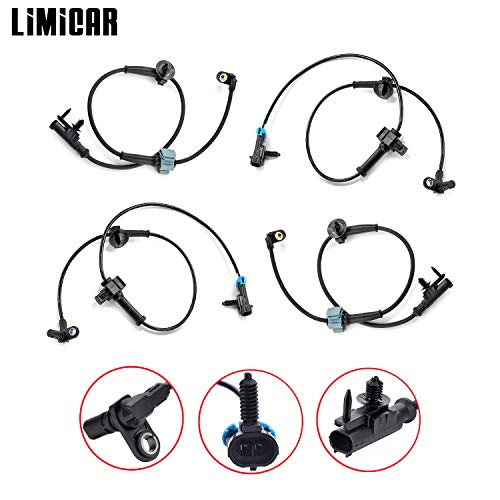 LIMICAR 4PCS Front & Rear ABS Anti-Lock Brake Wheel Speed Sensor Compatible w/ 2007 2008 2009 2010 2011 2012 Cadillac Escalade Avalanche Suburban 1500 Tahoe GMC Yukon XL 1500