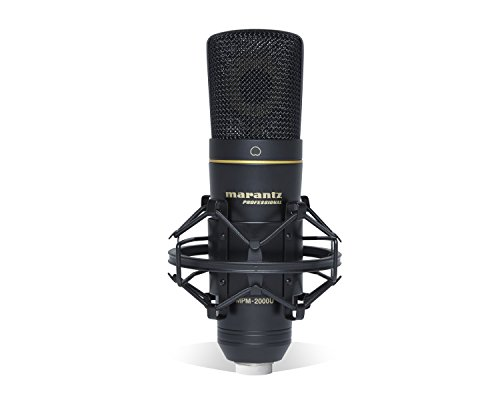 Marantz-Professional-MPM-2000U-Studio-Condenser-USB-Microphone-with-Shock-Mount-USB-Cable-Carry-Case-USB-Out