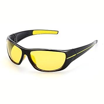 30bf2aa6d9 TIANLIANG04 Los Hombres Gafas de Sol polarizadas para conducción Nocturna  Lente Amarilla Hombre polarizados Gafas de