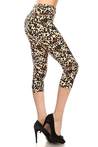 S686-CA-PLUS Leopard Muse Capri Print Leggings