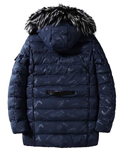 Men's Jacket Windbreaker Jacket Warm Jacket Quality Parker Moxishop Thicken Comfortable Outdoor Casual Blue Windbreaker Hooded Jacket Detachable New Winter Military Field Parker Camouflage d16w6xXIq