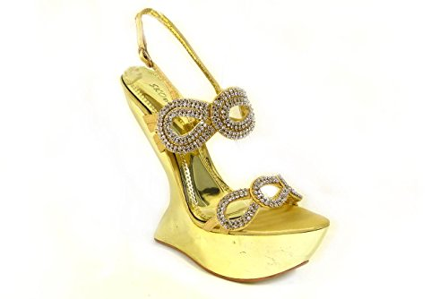 Gold SKO'S Sandales pour D78 20 femme Yx71w0q