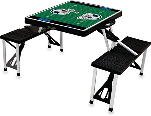 NFL Carolina Panthers Football Field Design Portable Folding Table/Seats, Black