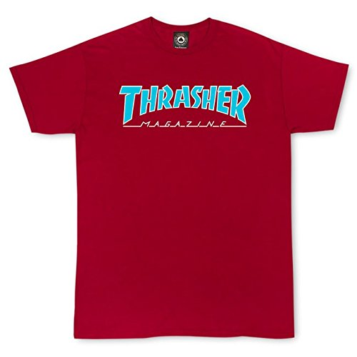 Thrasher Magazine Outlined Cardinal Red T-Shirt - Medium by Thrasher