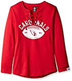 Icer Brands NFL Arizona Cardinals Women's Fleece Sweatshirt Lace Long Sleeve Shirt, Red, X-Large
